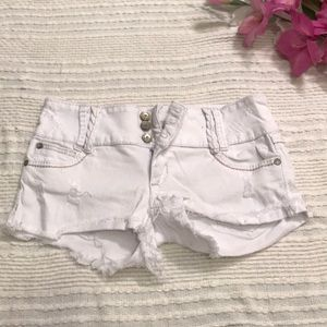 Almost Famous White Jean Shorts